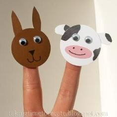 DIY Tutorial DIY Toys / DIY Farm Animal Finger Puppets - Bead&Cord