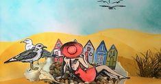 Summer Memories, Art Journals, Collage, Beach, Collages, The Beach, Art Diary, Beaches, Collage Art