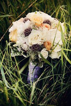 hermosa ramo de novia