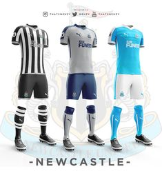 Premier League Concept Kits - All Premier League Kits Redesigned By Qehzy - Footy Headlines Soccer Kits, Football Kits, Premier League Teams, British Football, Soccer Logo, World Football, Sports Games, Sport T Shirt, Newcastle