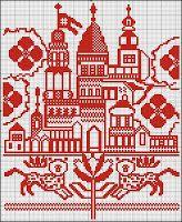 Free Easy Cross, Pattern Maker, PCStitch Charts + Free Historic Old Pattern Books: Russian Rushnik 1 - рушник