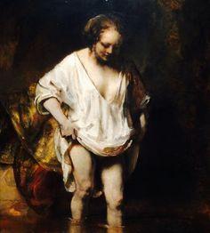 Ik ga op reis naar Mars en neem een foto mee van een van mijn favoriete schilderijen: Badende vrouw van Rembrandt. #MissionVoorwaartsMars #Mariëlle #Voorbeeld