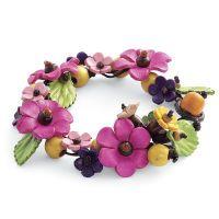 Floral Leather Bracelet