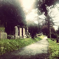 Cemetery path by specialagentCK