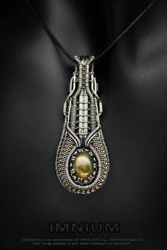 Long Labradorite Pendant by IMNIUM.deviantart.com on @DeviantArt