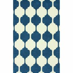 nuLOOM Handmade Modern Chess Trellis Blue Rug (5' x 8')