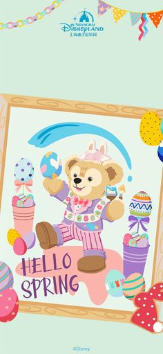 Spring Wallpaper, Wallpaper Iphone Cute, Disney Wallpaper, Duffy The Disney Bear, Ipad, Hello Spring, Disney Dream, Character Drawing, Disney Channel