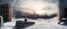 Image result for post apocalyptic scene