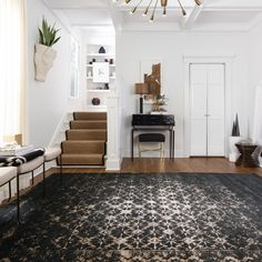 Show-stopping rugs are a home decor must-have. Available @bungalowaz #bungalowfurniture #scottsdale #rugs