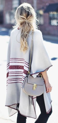 Fall 2015 trends -- boho cape and Chloe bag