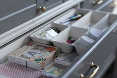 "Use a Variera Cutlery Tray sideways in a 15"" drawer. (tray is 12""x20"" Jillian Harris Ikea Sektion Kitchen"