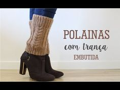 Hilda Eroles - vídeo 35 - polaina com ponto Detalhes no tricô - YouTube Boot Cuffs, Crochet Videos, Leg Warmers, Crochet Projects, Slippers, Knitting, Boots, How To Make, Handmade