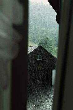 Dreading the walk to the barn in the cold rain..  but rain + barns = quiet time.