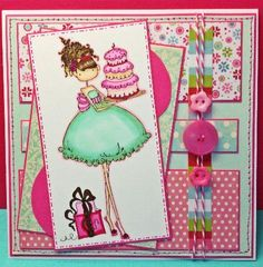 Stamping Bella Uptown Girl Card by littlemegs - Cards and Paper Crafts at Splitcoaststampers