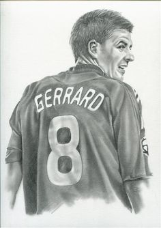 Steven George Gerrard, The most Fantastic Captain of Liverpool. Drawing by Dusit Moungpun