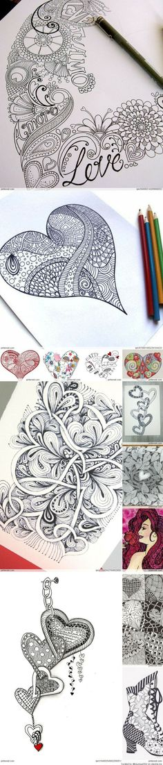 Zentangle Valentines Day Ideas Beautiful! - Crafting For You