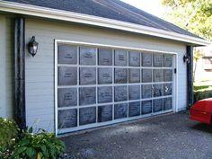 Mausoleum from your garage door! This is brilliant!