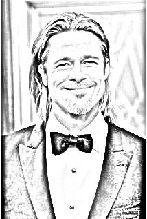 Brad Pitt drawing. Upload your photo and get a drawing for free!