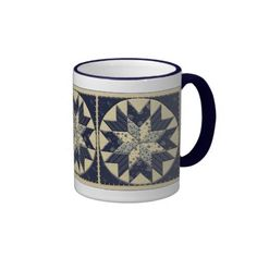 Declare your love of quilting on a cup, travel mug, or beer stein!