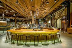 The largest Starbucks coffee shop of the world