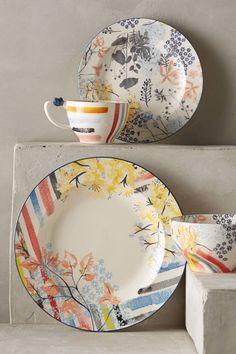 Garden Palette Dinnerware - anthropologie.com. Yipes! Stripes!