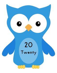Owl Number Line