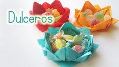 Sencillos dulceros para fiestas hechos con servilletas de papel
