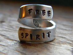 ☮ American Hippie Bohemian Boho Style Jewelry ~ Free Spirit Ring!