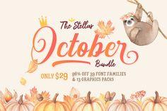 The Stellar October Bundle By TheHungryJPEG