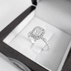 $4,589.90 2.48 CT F/SI1 Cushion Cut Diamond Engagement Ring by Brillianteers