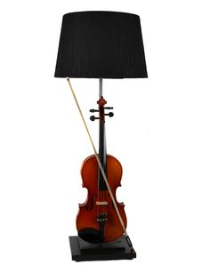 Violin Lamp, from The Mint List. We also have a customer currently making lights out of Cornets (musical variety)