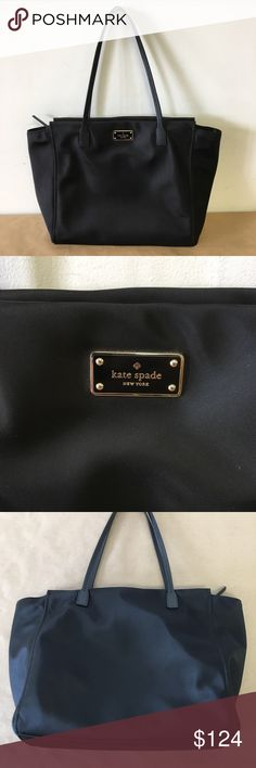 33bb2cfb8e3 Kate Spade Taden Blake Avenue Black Nylon Zip Tote Kate Spade Taden Blake  Avenue Black Nylon