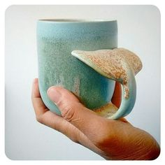 whale inspired ceramic mug is too cute to be true