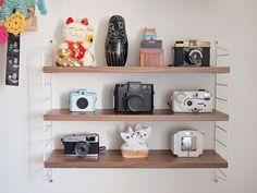 I love these mini string shelves