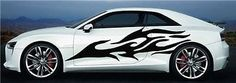 Tribal Flame Decal CAR Vinyl for 2 Sides Graphics Decals Any Car 7406