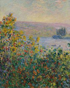 Massifs de fleurs à Vétheuil (C Monet - W 693),1881.