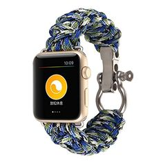 paracord survival watch paracord products and survival outdoor clocks band for iphone watch 42mm dreaman men sports nylon rope survival bracelet watch