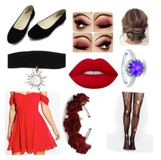 """""""party?"""" by mikailaclonts on Polyvore featuring Boohoo, Leg Avenue, Lime Crime and London Road"""