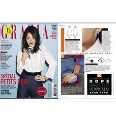 """Grazia France   """"Occhio"""" silver bracelet Gaultier, Jean Paul, Jeans, France, User Guide, Dress Shirt, Denim, Denim Pants, Denim Jeans"""