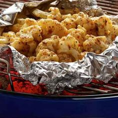 Easy, flavorful grilled cauliflower with no clean-up!
