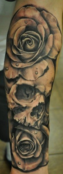 _295-Josh-Duffy-tattoo.teschio-skull-rose