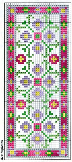 Cross-stitch Bookmark ... no color chart, just use pattern chart colors as your guide.. or choose your own colors. <3