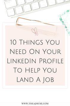 Ways To Improve Your Linkedin Profile  Profile And Career Advice