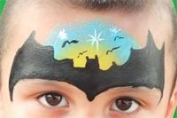 Bat Moon Face Painting
