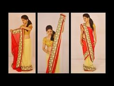 How to drape Saree Mermaid Style Drape Sarees, Saree Draping Styles, Makeup Bord, Saree Wearing, Mermaid Style, Net Saree, Light Shades, Indian, Chaat Recipe