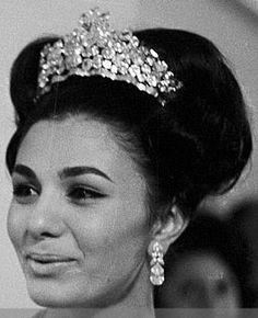 Tiara Mania: Noor-ol-Ain Tiara worn by Empress Farah of Iran