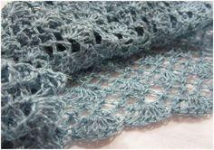 Chale  crochet Coeur amande japonais Free dl tuto en français