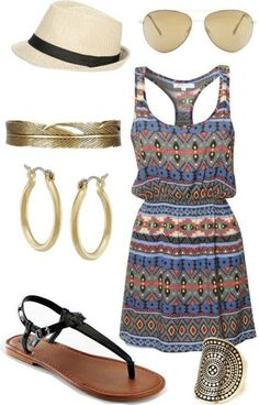 Summer Outfits And Dresses- stitch fix stylist: love the feather bangle bracelet!!! I'm an FSU Seminole grad and wear feathers and arrows often