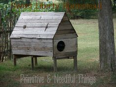Here's the large original chicken coop I found in Arkansas.<1
