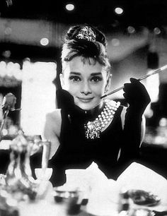 "udrey Hepburn in ""Breakfast at Tiffany's"""